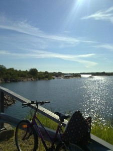 Biking on Åland.